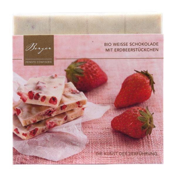 Berger Schokolade   Weiße Erdbeerstückchen [BIO]