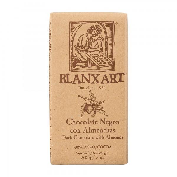 Blanxart | dunkle Schokolade mit ganzen Mandeln | 200g