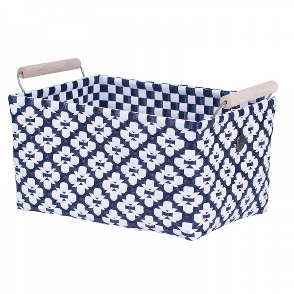 Handed By Korb | Motif mit Griff | navy m