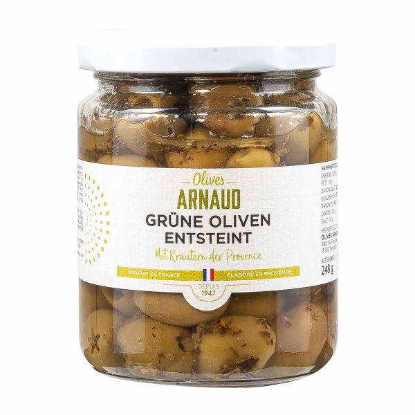 Arnaud | grüne Oliven | entsteint