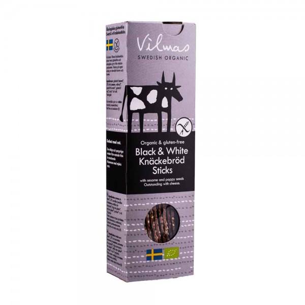 Vilmas Crispbread Sticks Black + White Knäckebrot [BIO]