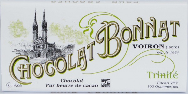 Bonnat Schokolade ohne Nuss Spuren Trinite 75%