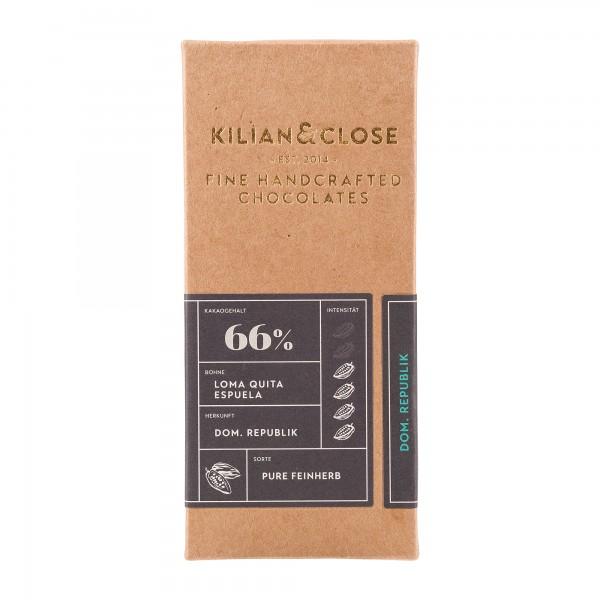 Kilian und Close | dunkle Schokolade 66% | Dom. Republik | 80g [BIO]