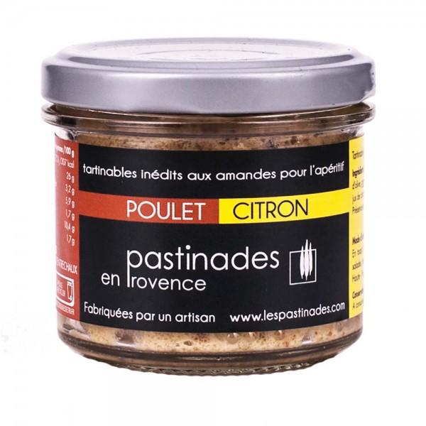 Pastinades Hühnchen mit Zitrone Aperitif Creme