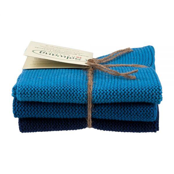 Solwang Design Wischtücher   Staubig Blau Kombi