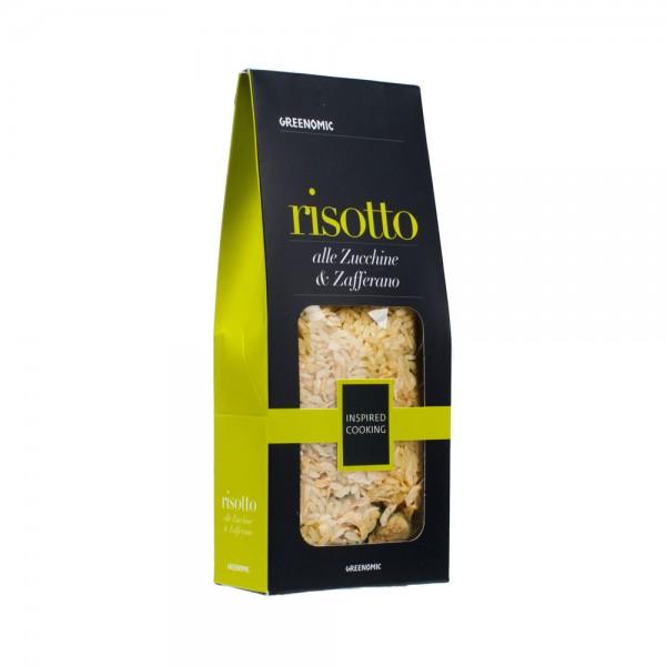 Greenomic Risotto mit Zucchini und Safran