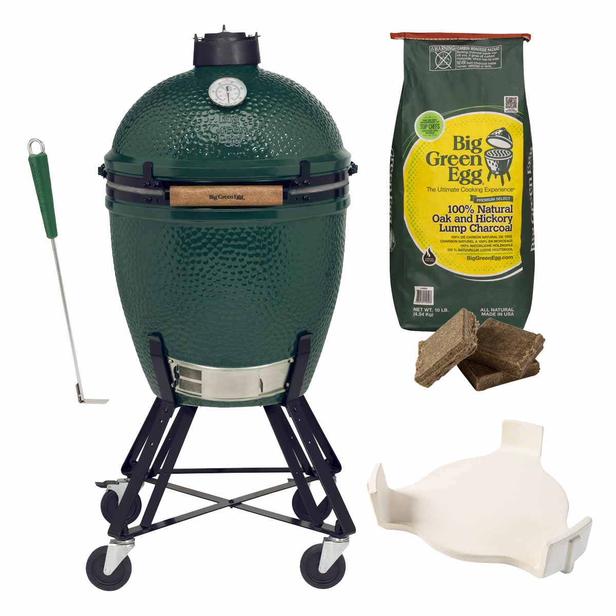 big green egg large starter paket keramik grill genussland. Black Bedroom Furniture Sets. Home Design Ideas
