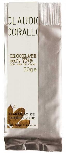 Claudio Corallo | dunkle Schokolade | Chocolate Soft 73,5% | 50g